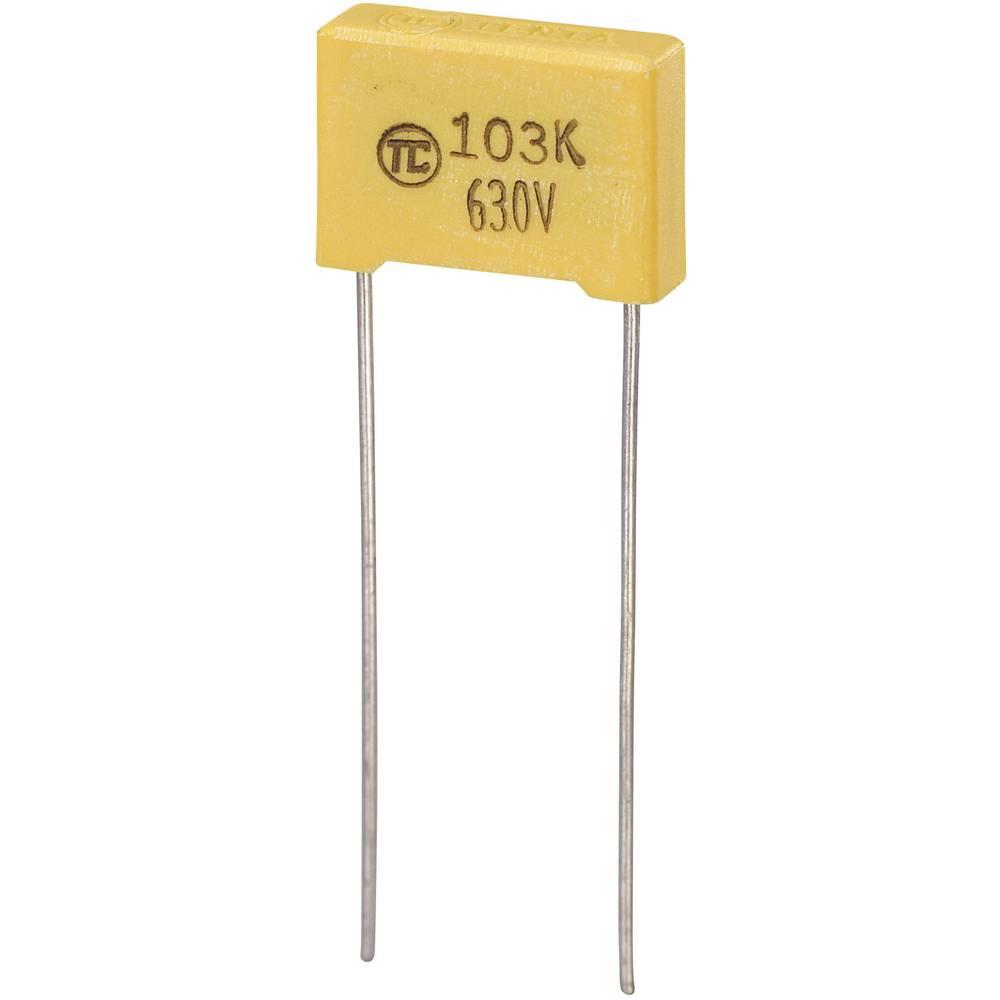 MKS-folijski kondenzator, radijalno ožičen 0.01 µF 630 V/DC 5 % 10 mm (D x Š x V) 13 x 4 x 9 mm 1 kos