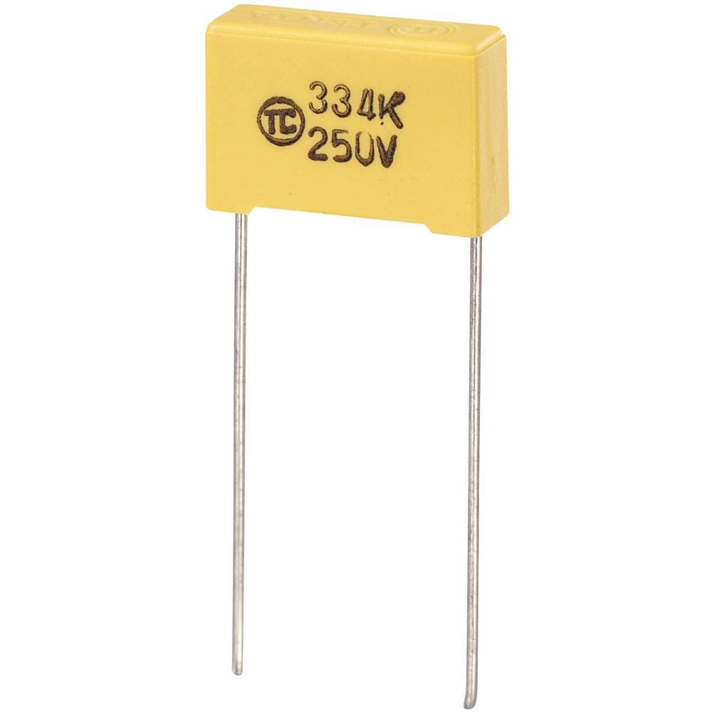 MKS-folijski kondenzator, radijalno ožičen 0.047 µF 630 V/DC 5 % 15 mm (D x Š x V) 18 x 6 x 12 mm 1 kos