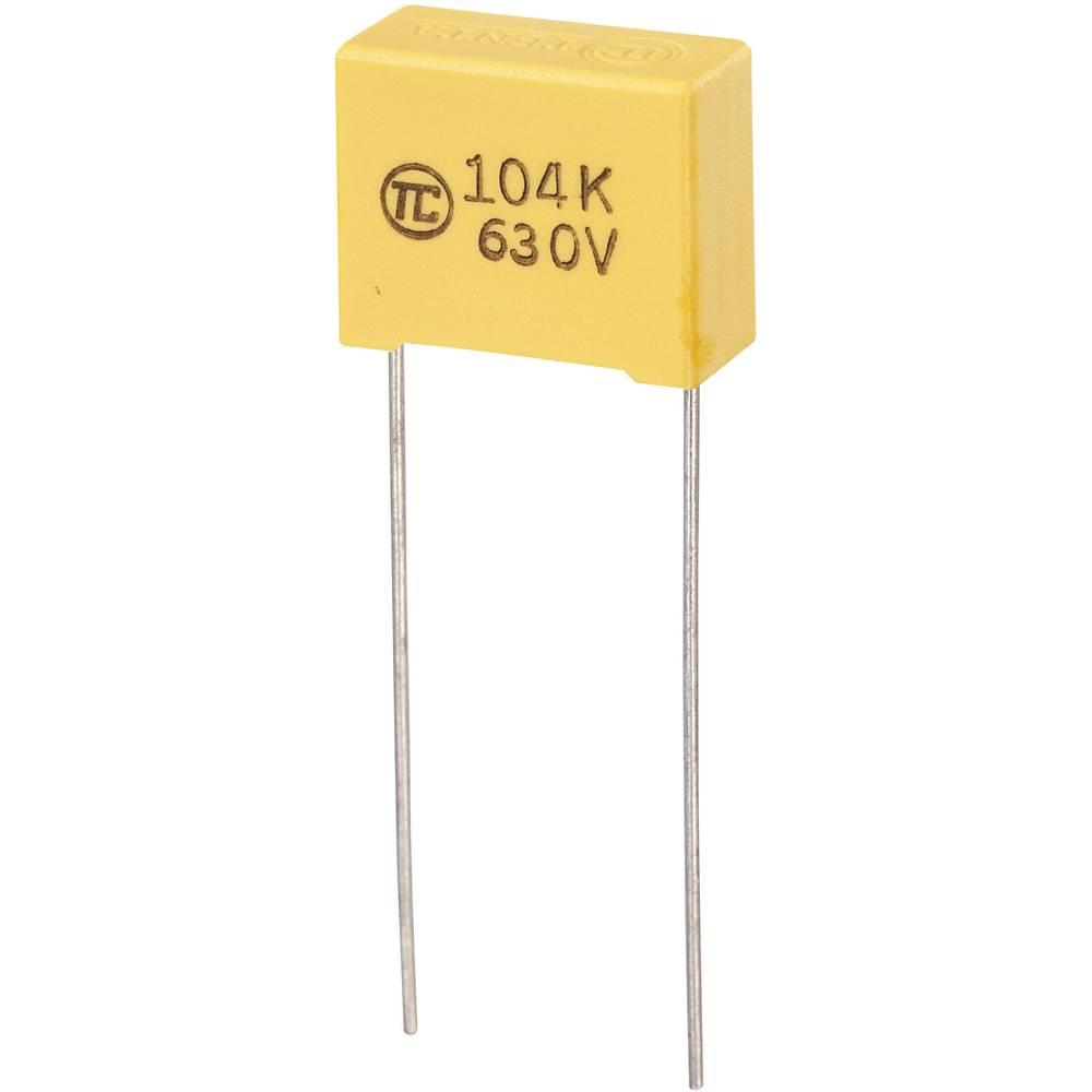 MKS-folijski kondenzator, radijalno ožičen 0.1 µF 630 V/DC 5 % 15 mm (D x Š x V) 18 x 8.5 x 14.5 mm 1 kos