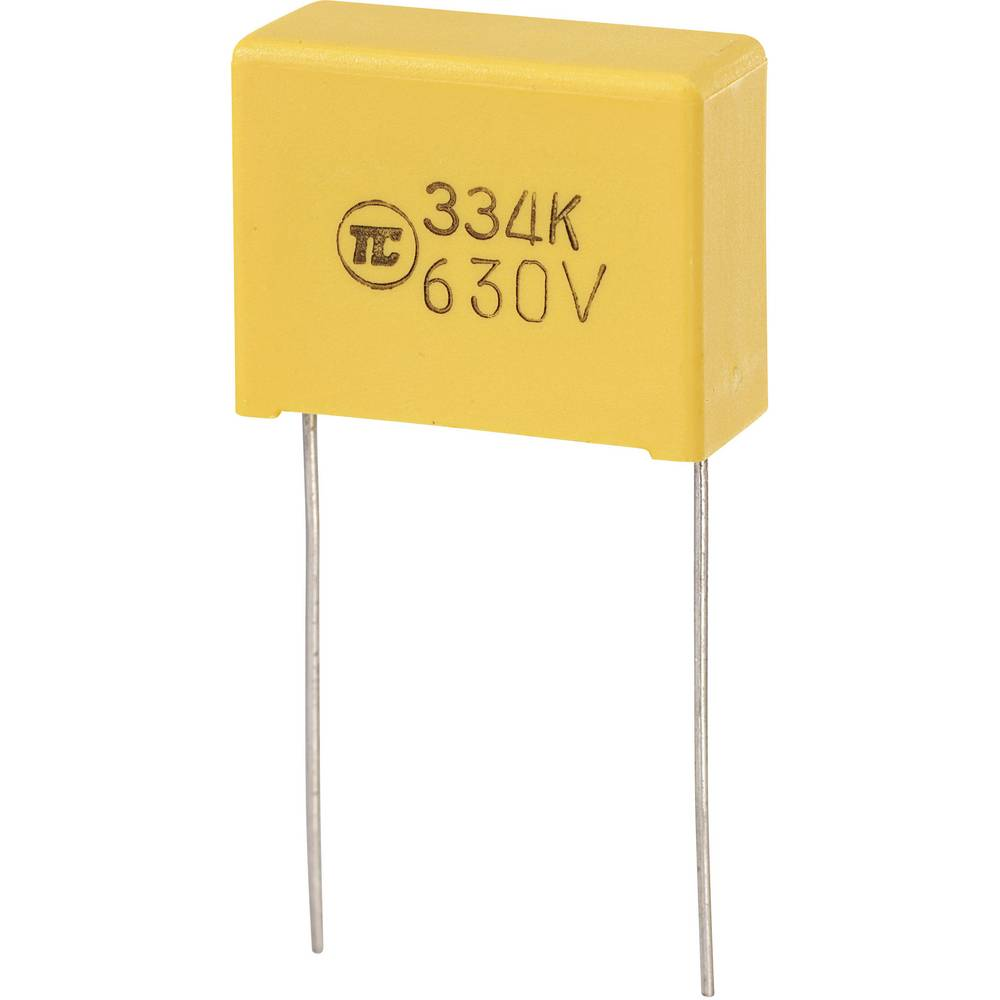 MKS-folijski kondenzator, radijalno ožičen 0.33 µF 630 V/DC 5 % 22.5 mm (D x Š x V) 26.5 x 10 x 19 mm 1 kos