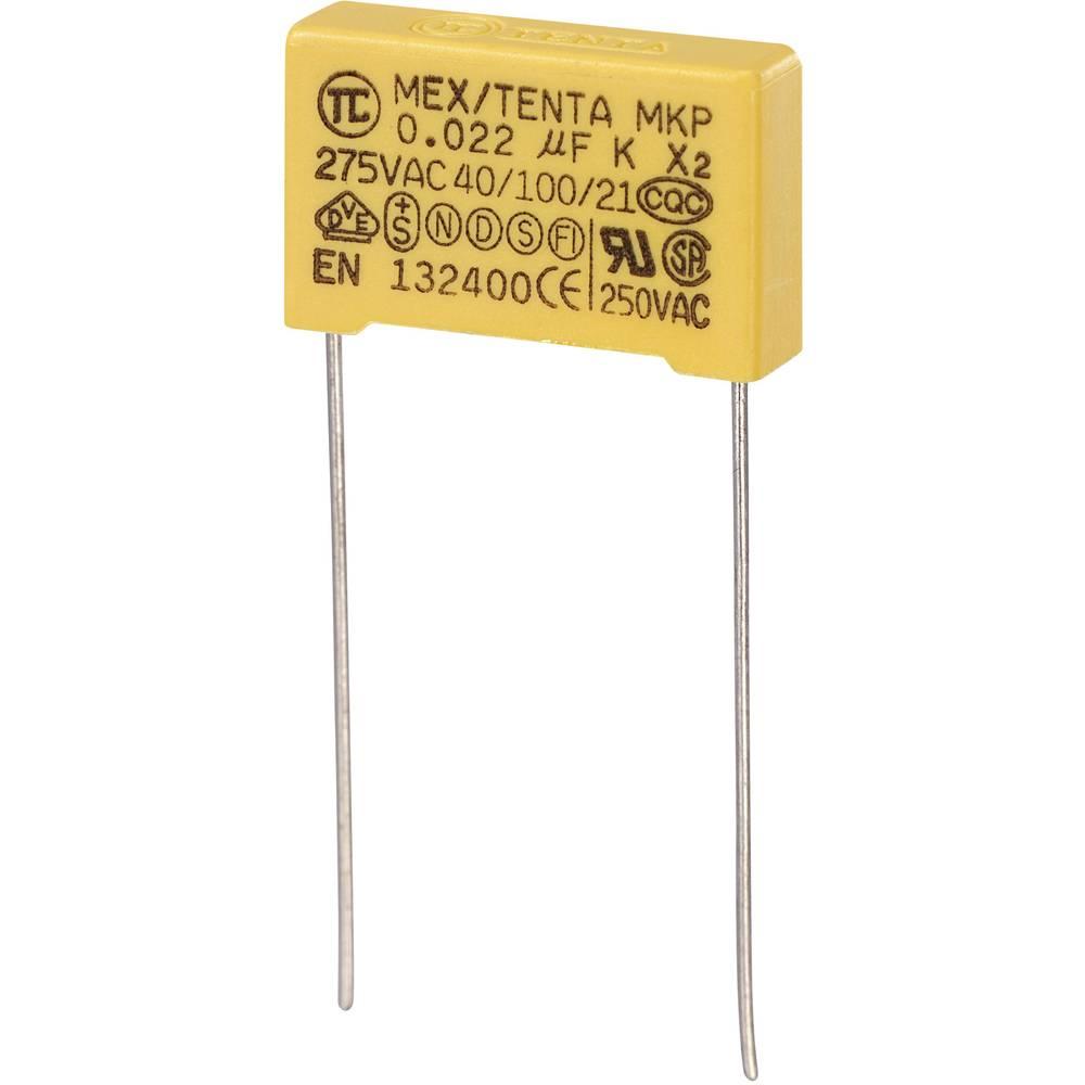 MKP-X2-Radijski kondenzator za uklanjanje smetnji, radijalno ožičen 0.022 µF 275 V/AC 10 % 15 mm (D x Š x V) 18 x 5 x 11 m