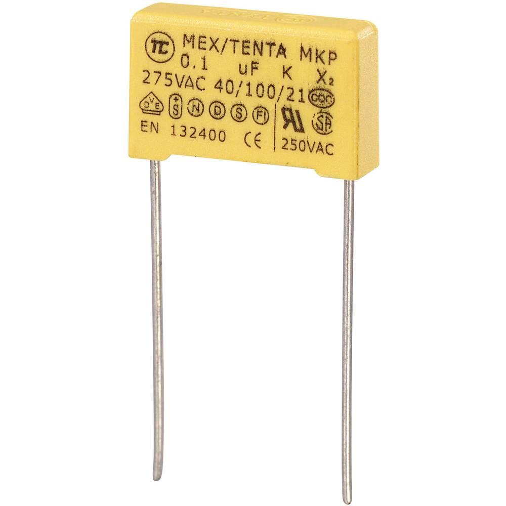 MKP-X2-Radijski kondenzator za uklanjanje smetnji, radijalno ožičen 0.1 µF 275 V/AC 10 % 15 mm (D x Š x V) 18 x 5 x 11 mm