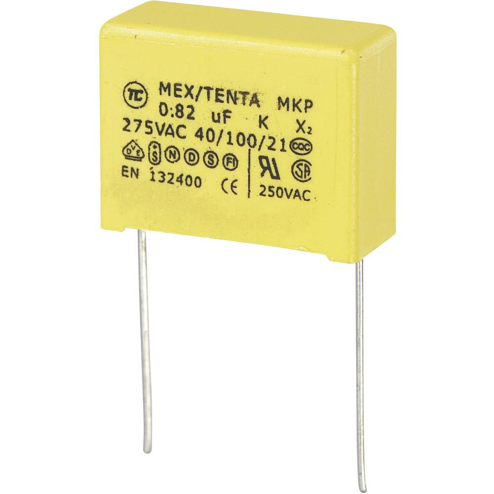 MKP-X2-Radijski kondenzator za uklanjanje smetnji, radijalno ožičen 0.82 µF 275 V/AC 10 % 22.5 mm (D x Š x V) 26 x 11 x 20