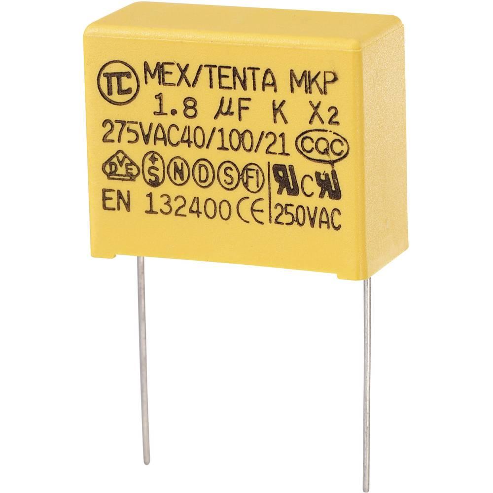 MKP-X2-Radijski kondenzator za uklanjanje smetnji, radijalno ožičen 1.8 µF 275 V/AC 10 % 27.5 mm (D x Š x V) 32 x 14 x 25