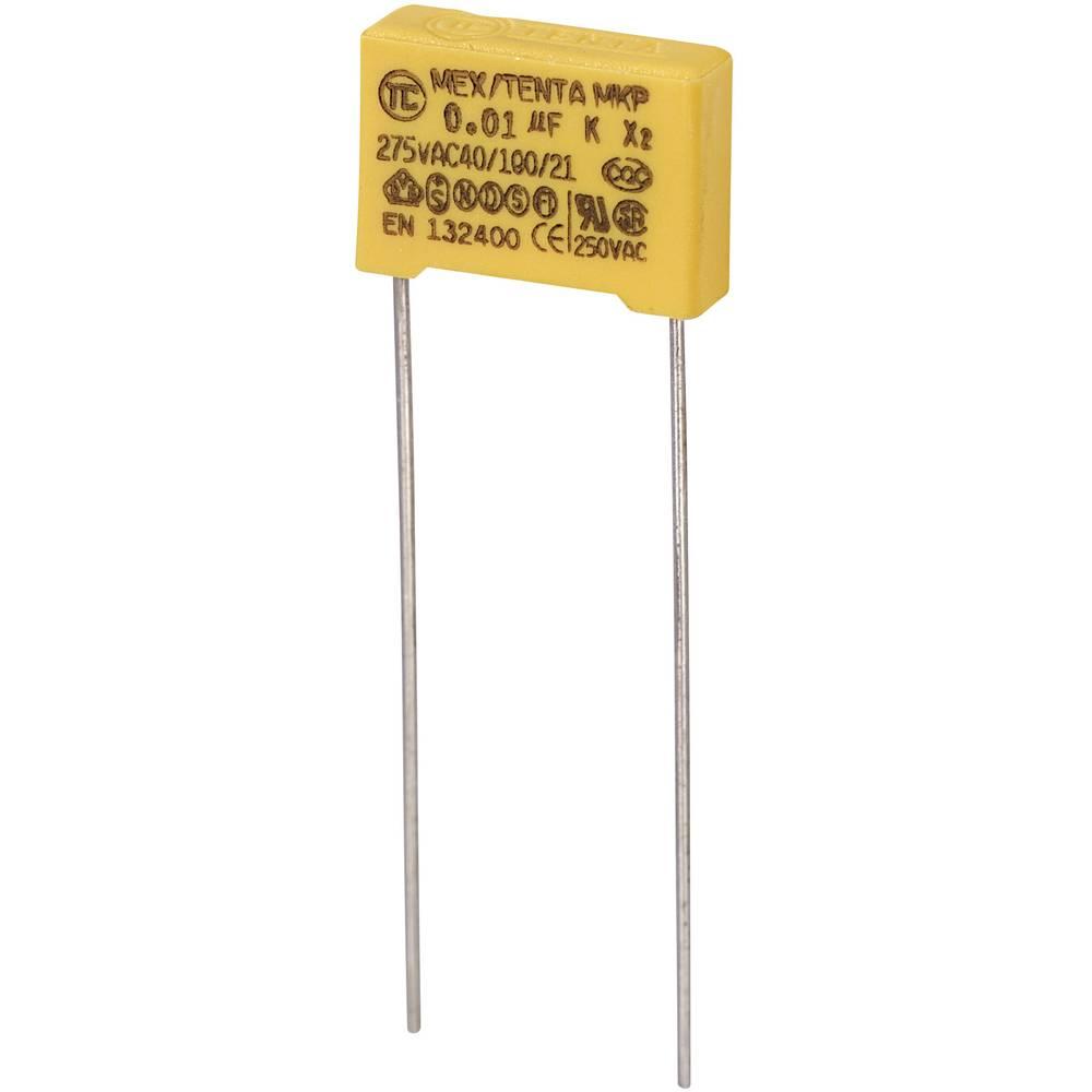 MKP-X2-Radijski kondenzator za uklanjanje smetnji, radijalno ožičen 0.01 µF 275 V/AC 10 % 10 mm (D x Š x V) 13 x 4 x 9 mm