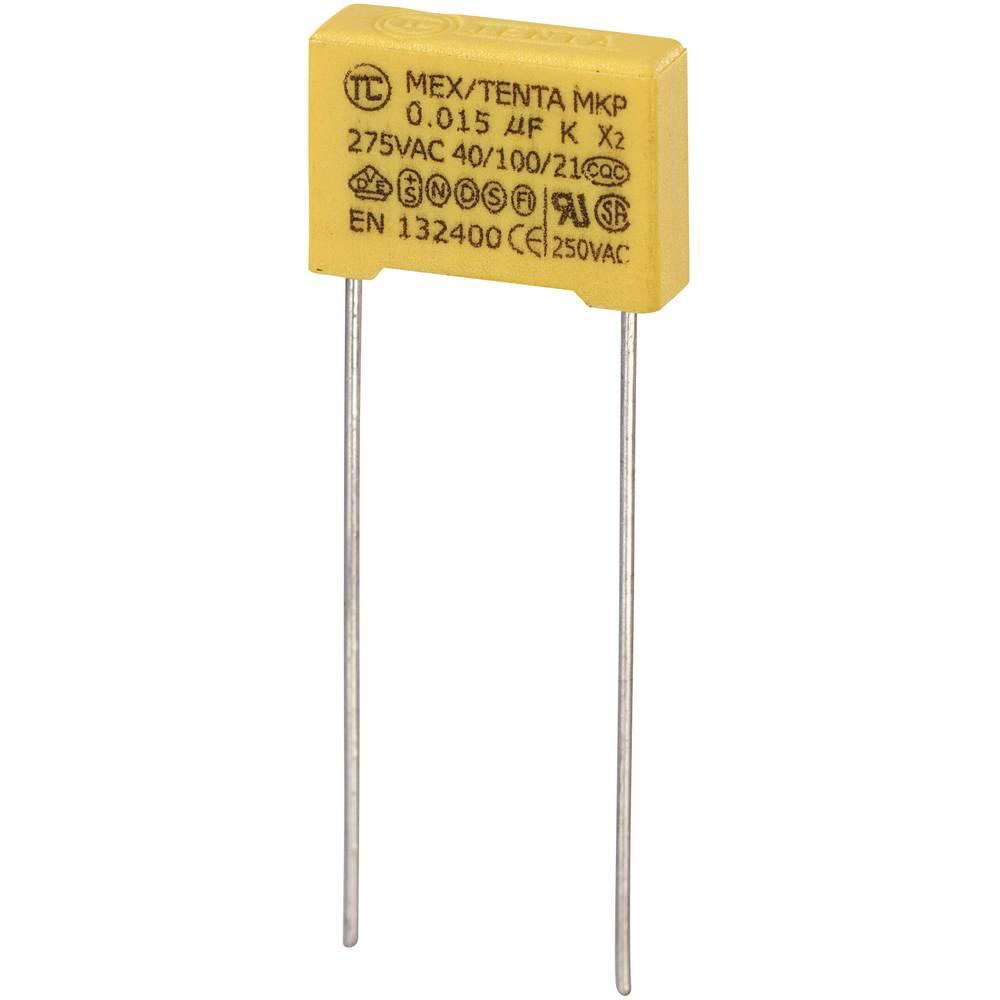 MKP-X2-Radijski kondenzator za uklanjanje smetnji, radijalno ožičen 0.015 µF 275 V/AC 10 % 10 mm (D x Š x V) 13 x 4 x 9 mm