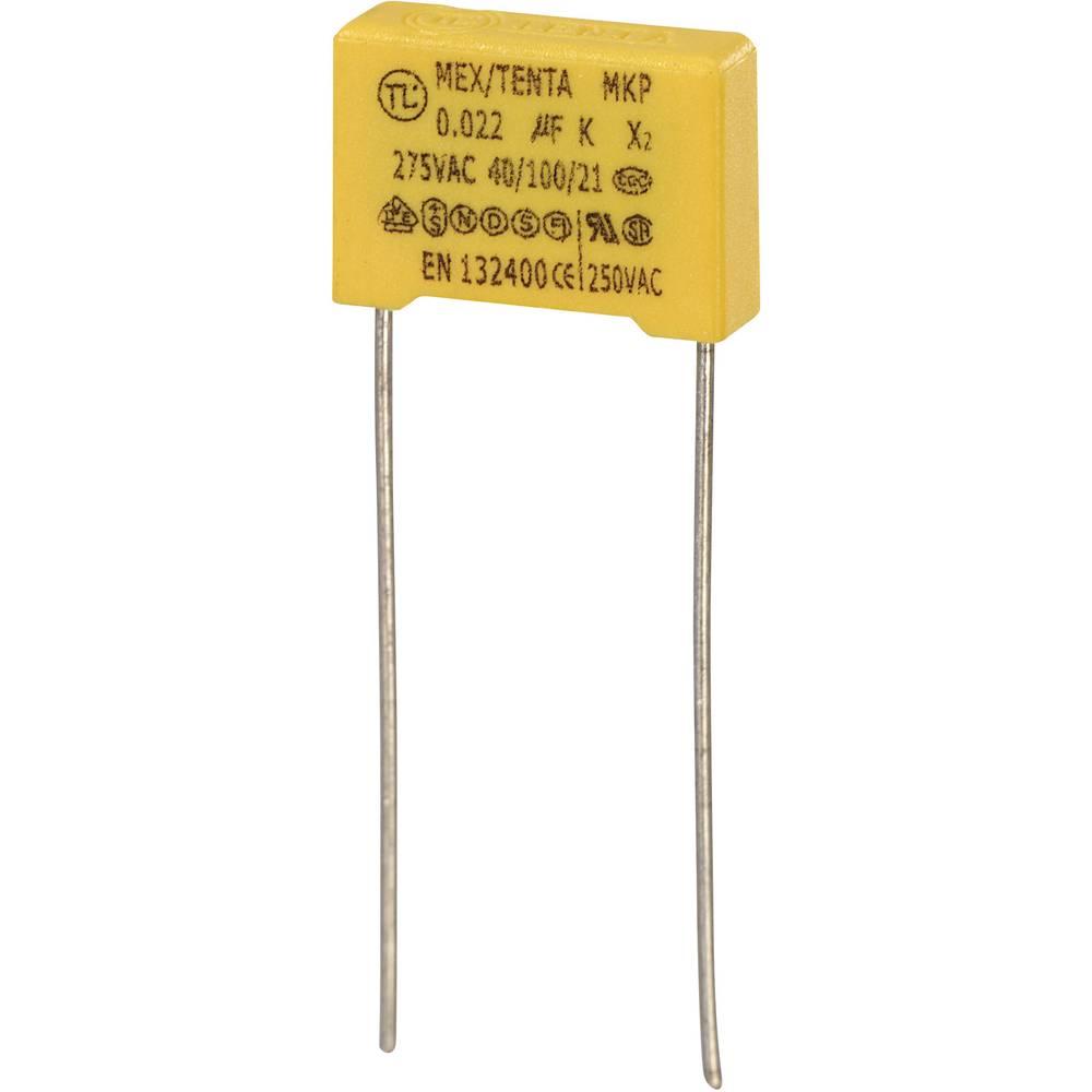 MKP-X2-Radijski kondenzator za uklanjanje smetnji, radijalno ožičen 0.022 µF 275 V/AC 10 % 10 mm (D x Š x V) 13 x 4 x 9 mm