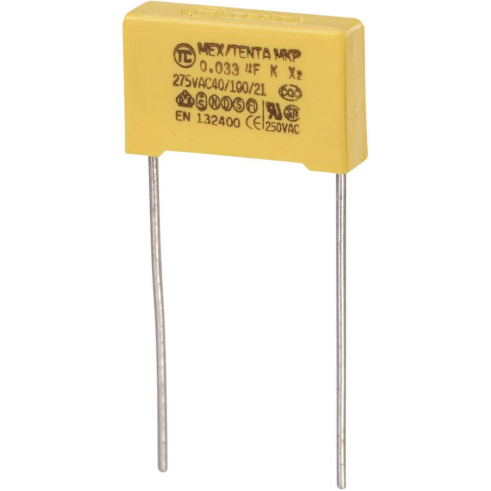 MKP-X2-Radijski kondenzator za uklanjanje smetnji, radijalno ožičen 0.033 µF 275 V/AC 10 % 15 mm (D x Š x V) 18 x 5 x 11 m