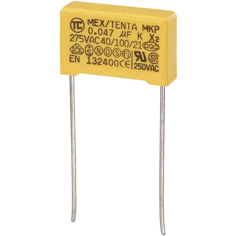 MKP-X2-Radijski kondenzator za uklanjanje smetnji, radijalno ožičen 0.047 µF 275 V/AC 10 % 15 mm (D x Š x V) 18 x 5 x 11 m