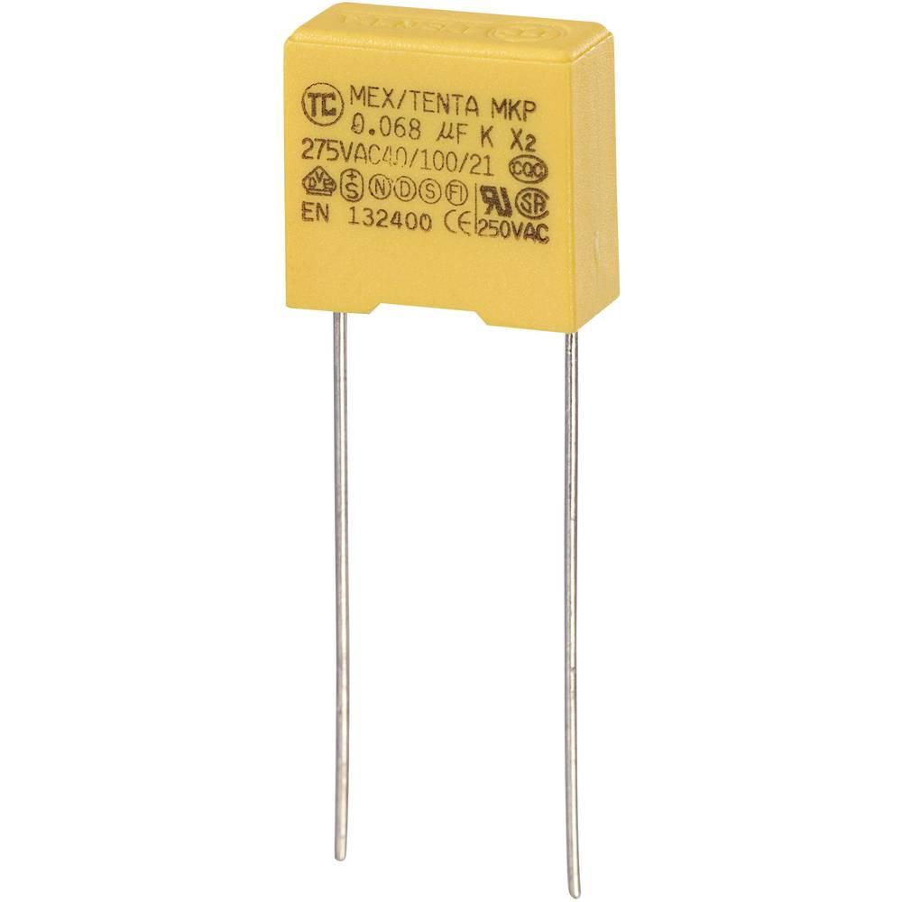 MKP-X2-Radijski kondenzator za uklanjanje smetnji, radijalno ožičen 0.068 µF 275 V/AC 10 % 10 mm (D x Š x V) 13 x 6 x 12 m