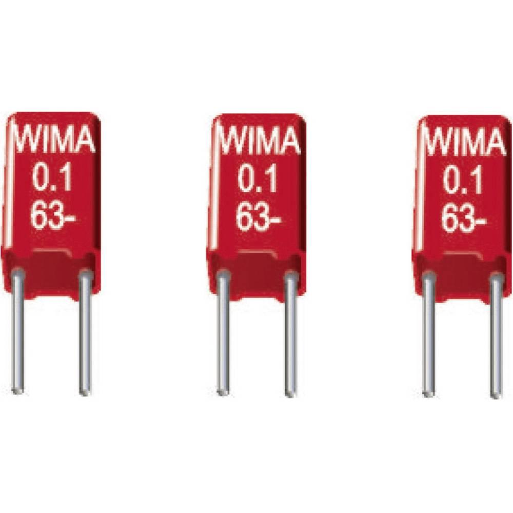 MKS-folijski kondenzator, radijalno ožičen 1 µF 50 V/DC 20 % 2.5 mm (D x Š x V) 4.6 x 5.5 x 10 mm Wima MKS0B041000F00KSSD