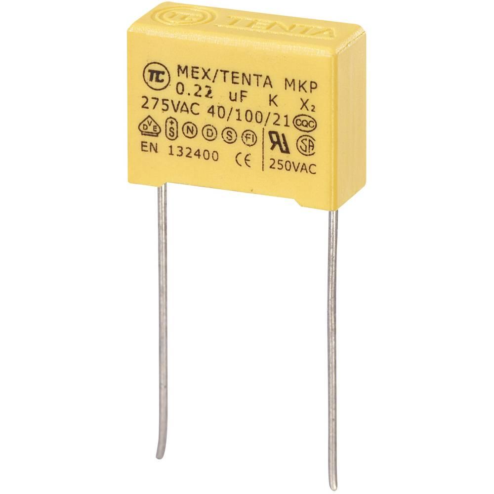 MKP-X2-Radijski kondenzator za uklanjanje smetnji, radijalno ožičen 0.22 µF 275 V/AC 10 % 15 mm (D x Š x V) 18 x 7.5 x 13.