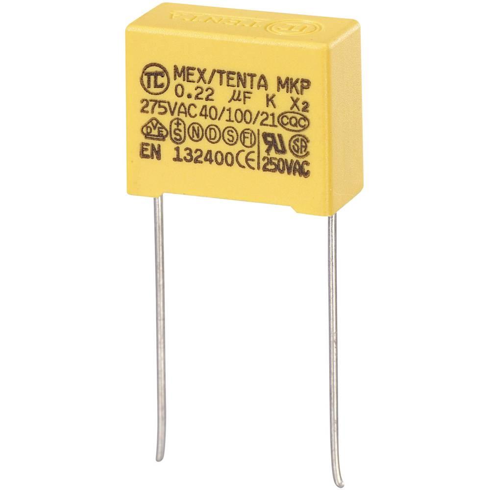 MKP-X2-Radijski kondenzator za uklanjanje smetnji, radijalno ožičen 0.22 µF 275 V/AC 10 % 15 mm (D x Š x V) 18 x 8.5 x 14.