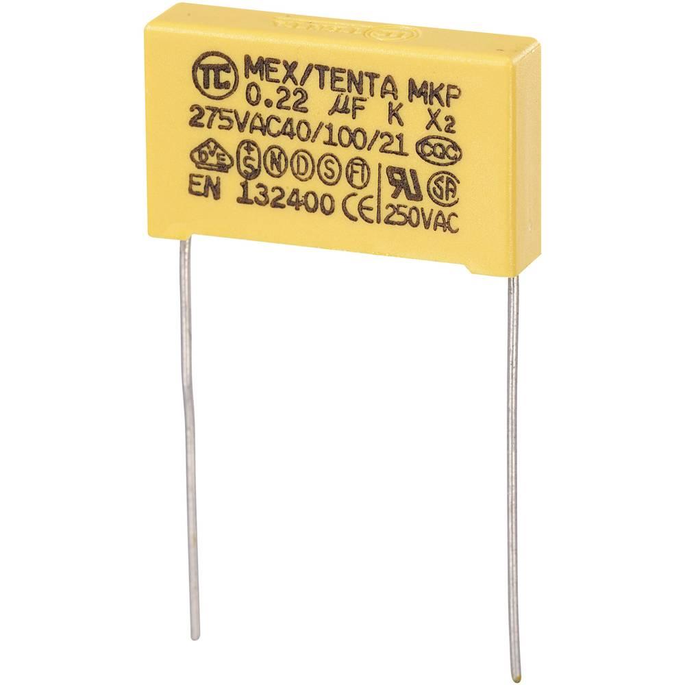 MKP-X2-Radijski kondenzator za uklanjanje smetnji, radijalno ožičen 0.22 µF 275 V/AC 10 % 22.5 mm (D x Š x V) 26.5 x 6 x 1