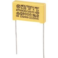 MKP-X2-radijski kondenzator za odpravljanje motenj, radialno ožičen 0.22 µF 275 V/AC 10 % 22.5 mm (D x Š x V) 26.5 x 6 x 1