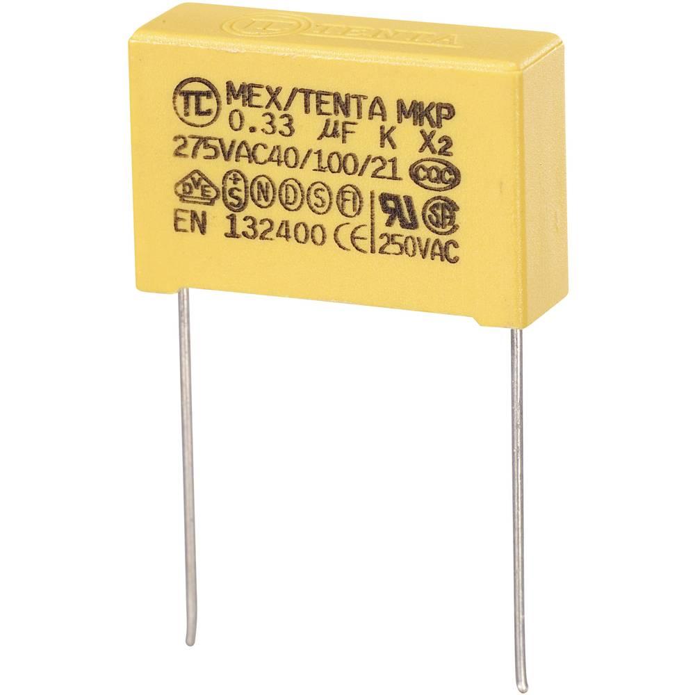 MKP-X2-Radijski kondenzator za uklanjanje smetnji, radijalno ožičen 0.33 µF 275 V/AC 10 % 22.5 mm (D x Š x V) 26.5 x 7 x 1