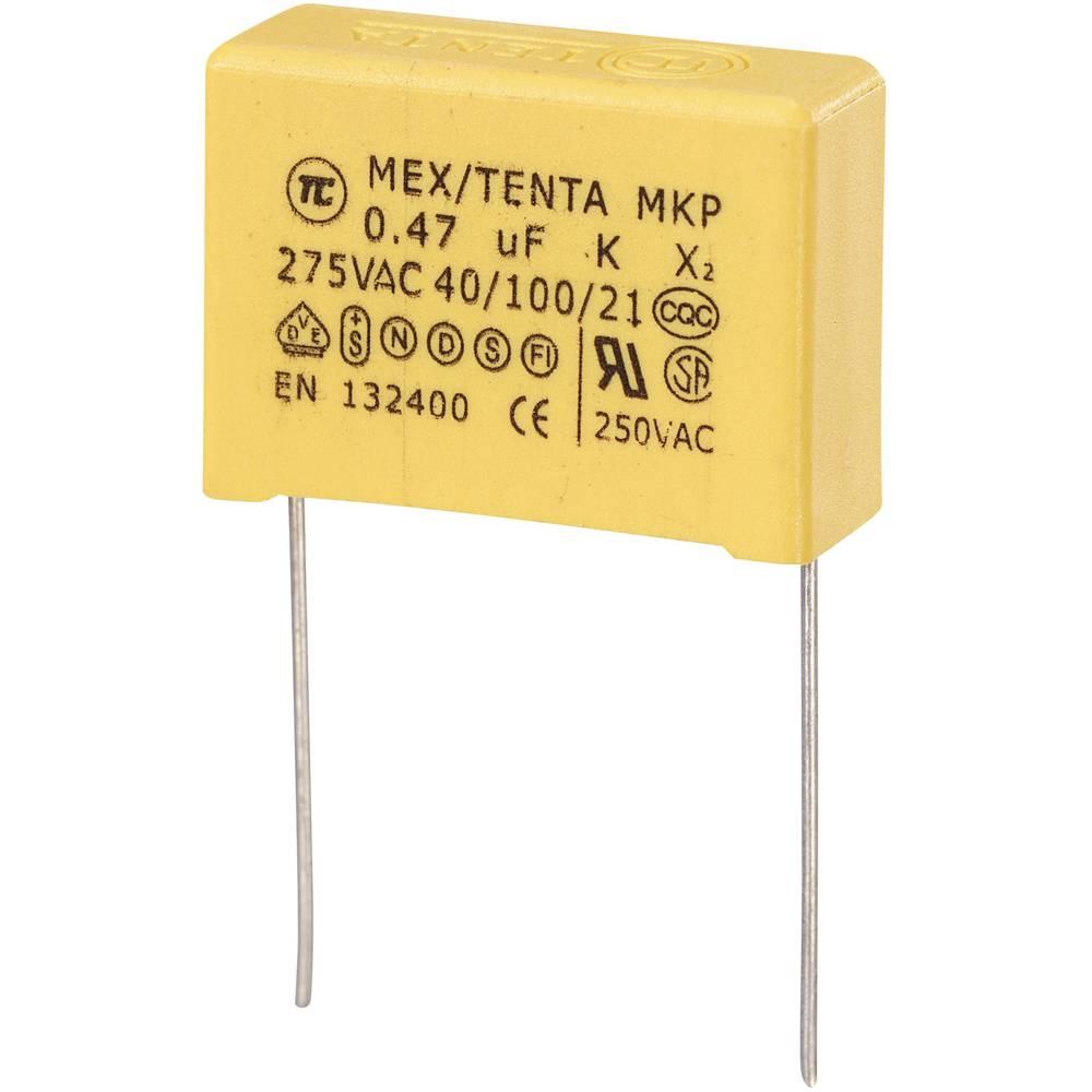 MKP-X2-Radijski kondenzator za uklanjanje smetnji, radijalno ožičen 0.47 µF 275 V/AC 10 % 22.5 mm (D x Š x V) 26.5 x 10 x