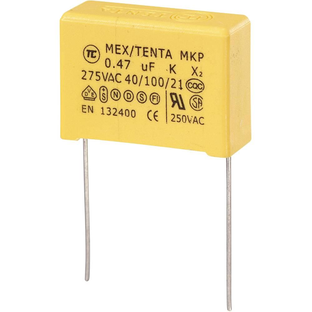 MKP-X2-Radijski kondenzator za uklanjanje smetnji, radijalno ožičen 0.47 µF 275 V/AC 10 % 22.5 mm (D x Š x V) 26.5 x 8.5 x