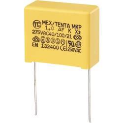 TRU COMPONENTS MKP-X2 MKP-X2-radijski kondenzator za odpravljanje motenj, radialno ožičen 1 µF 275 V/AC 10 % 22.5 mm (D x