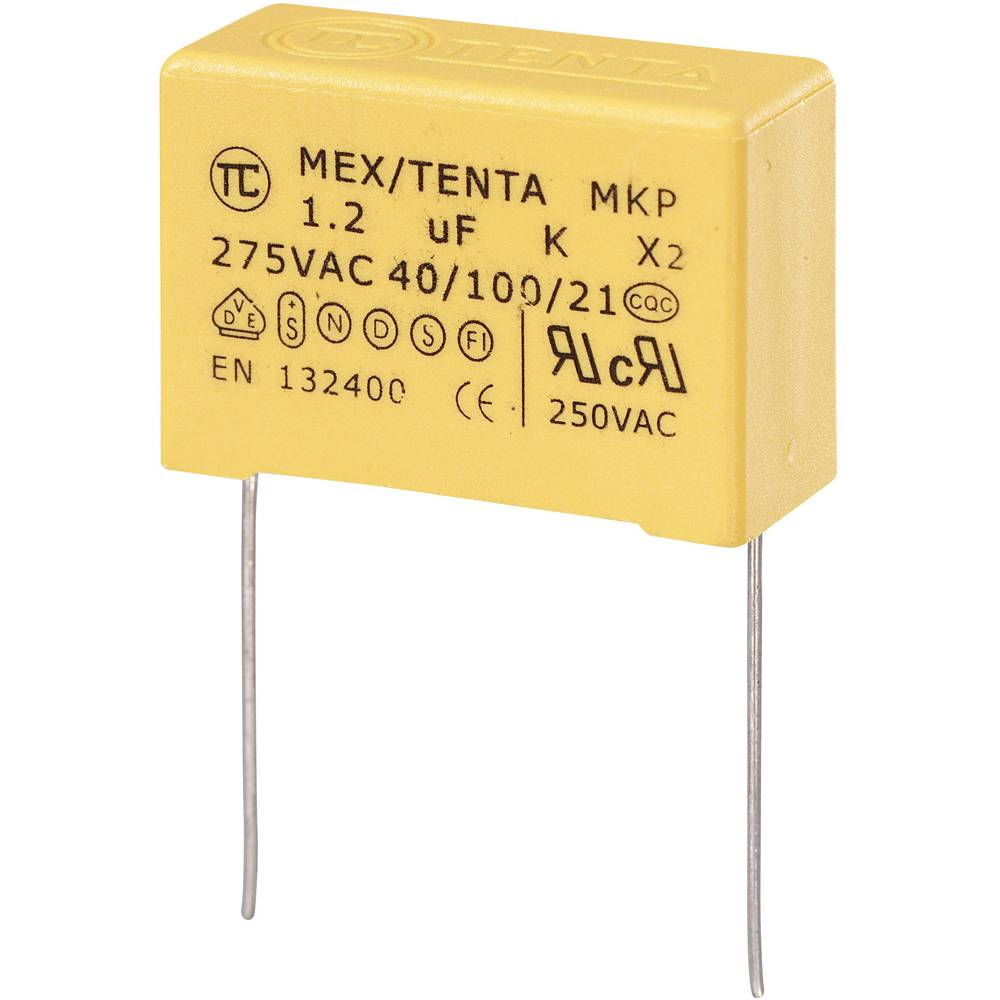 MKP-X2-Radijski kondenzator za uklanjanje smetnji, radijalno ožičen 1.2 µF 275 V/AC 10 % 27.5 mm (D x Š x V) 32 x 13 x 23