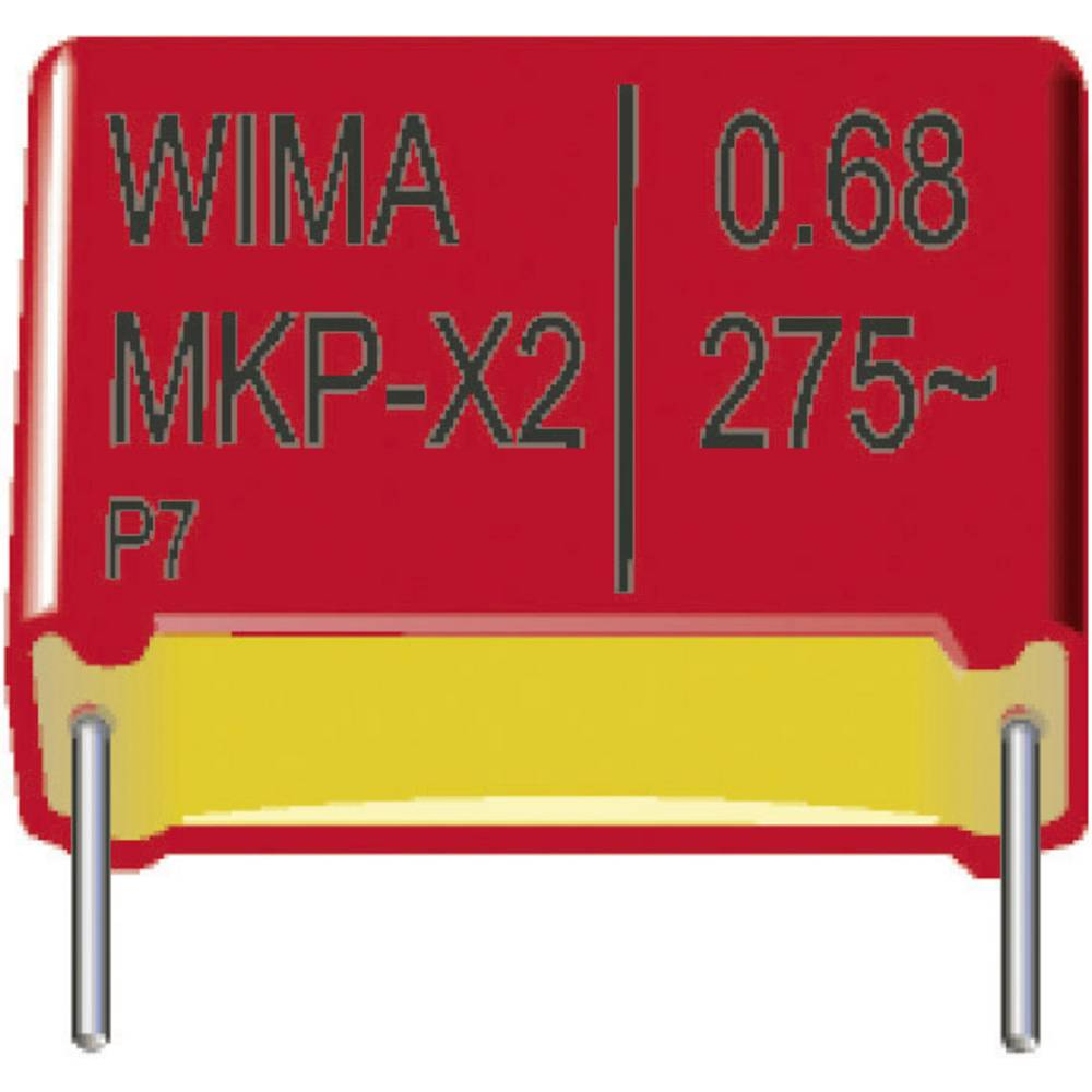 MKP-folijski kondenzator, radijalno ožičen 0.01 µF 2500 V/DC 20 % 22.5 mm (D x Š x V) 26.5 x 8.5 x 18.5 mm Wima MKP1V02100