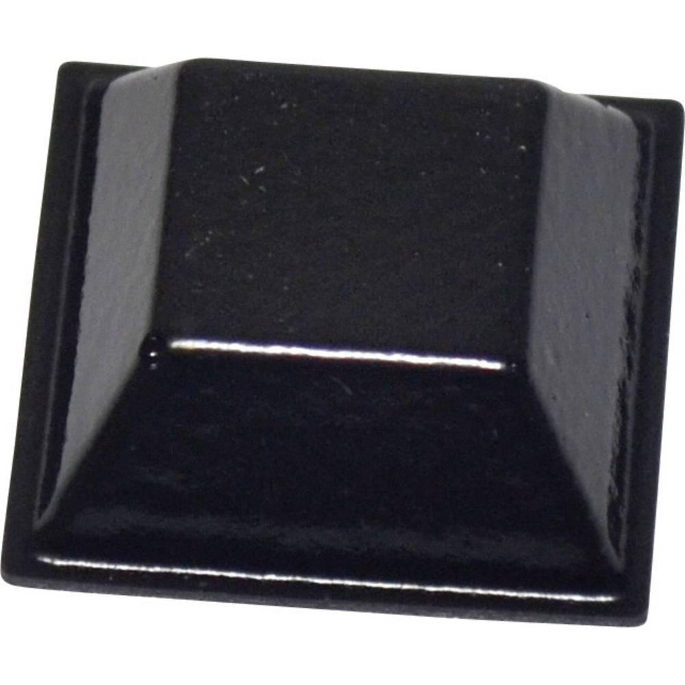 TOOLCRAFT PD2205SW (L x B x H) 20.6 x 20.6 x 7.6mm, PU, crna