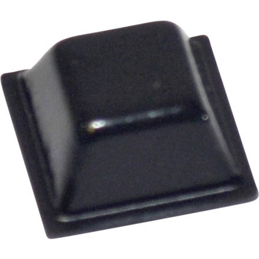 TOOLCRAFT PD2126SW (L x B x H) 12.7 x 12.7 x 5.8mm, PU, crna