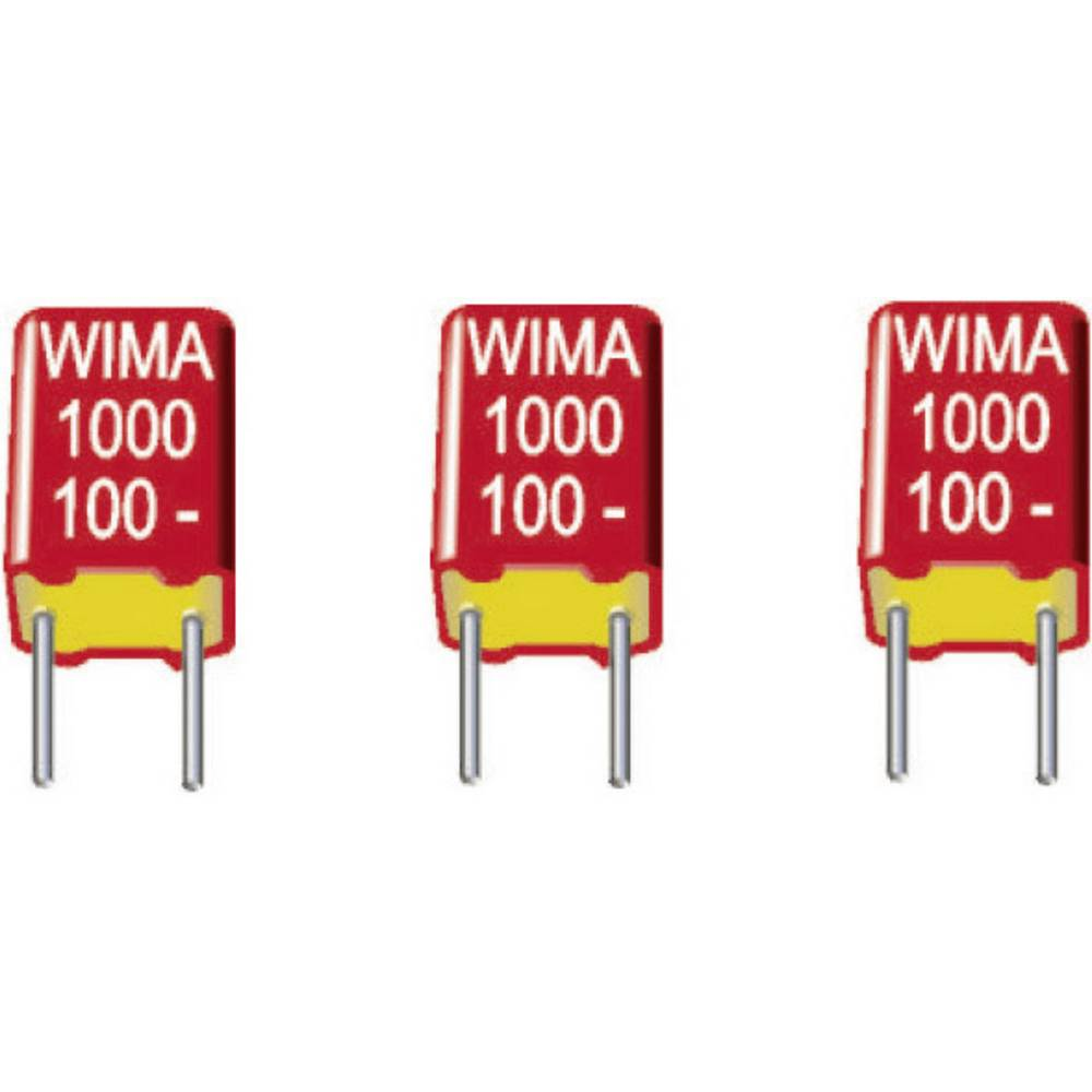 FKS-folijski kondenzator, radijalno ožičen 1000 pF 100 V/DC 5 % 7.5 mm (D x Š x V) 10 x 3 x 8.5 mm Wima FKS3D011002B00JC00 2300