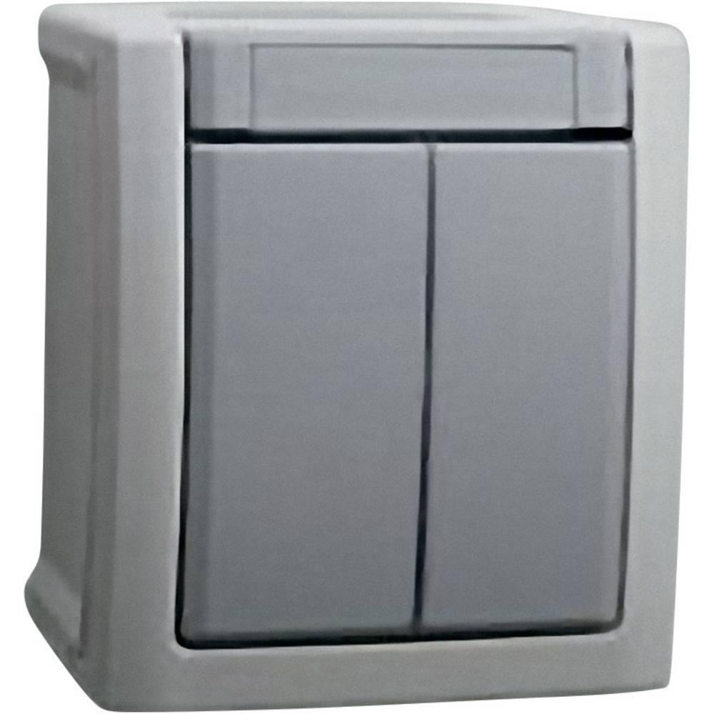 VIKO serijski prekidač za vlažne prostorije Pacific siva 90591002-DE