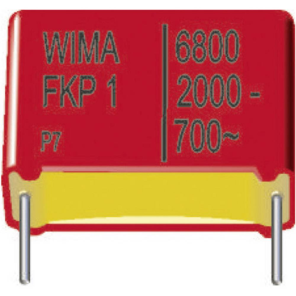 FKP-folijski kondenzator, radijalno ožičen 1000 pF 2000 V/DC 10 % 15 mm (D x Š x V) 18 x 7 x 14 mm Wima FKP1U011004D00KI00 450 k