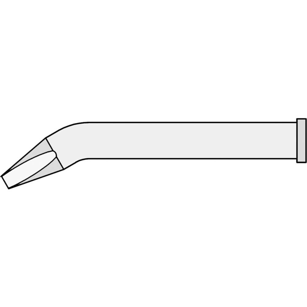 Spajkalna konica v obliki dleta, upognjena Weller XT BX velikost konice 2.4 mm dolžina konice 51.5 mm vsebuje 1 kos