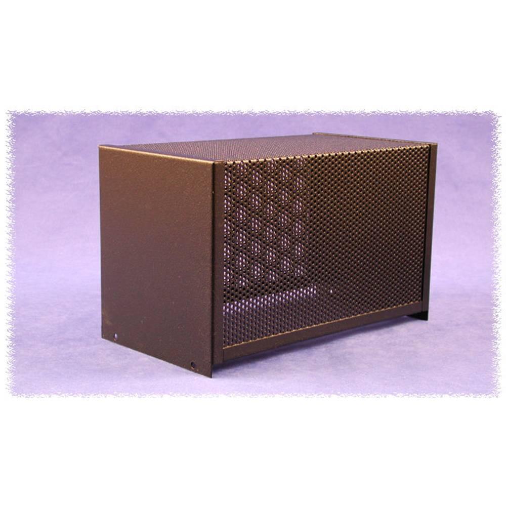 Dæksel til kabinet 432 x 254 x 132 Stål Sort Hammond Electronics 1451-30BK3 1 stk