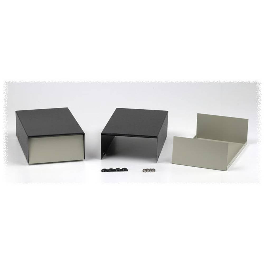Instrumentkabinet 76 x 102 x 102 Stål Grå, Sort Hammond Electronics 1454J 1 stk