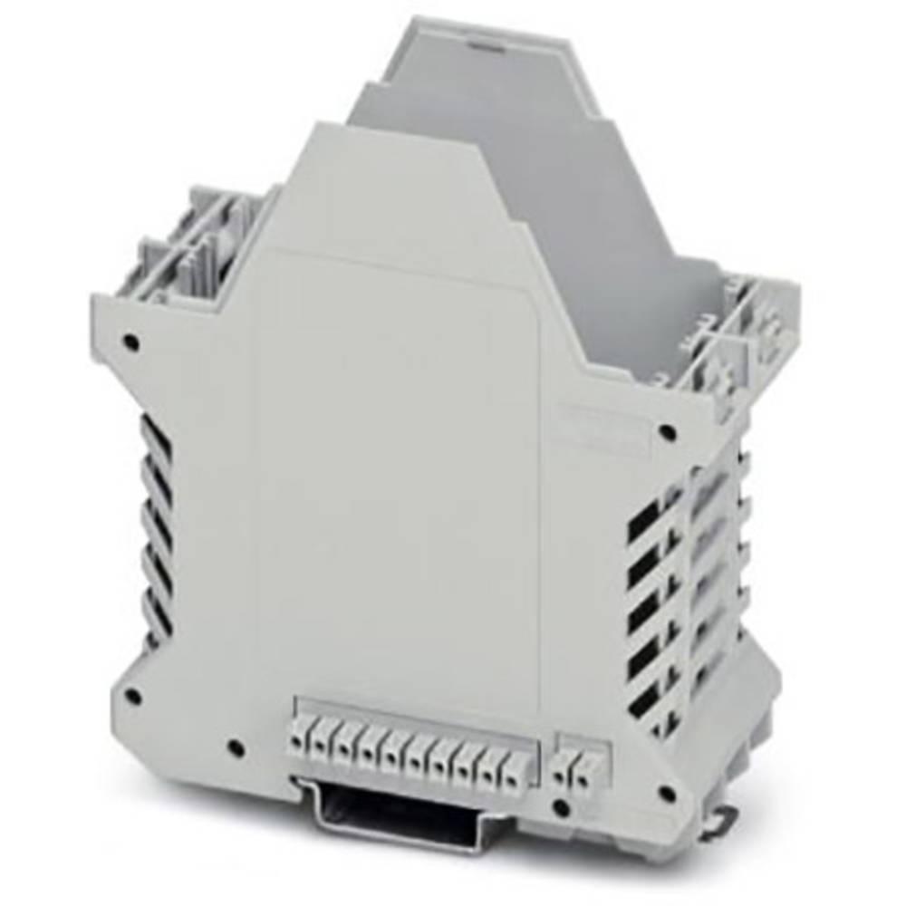 DIN-skinnekabinet underdel Phoenix Contact ME 45 UT/FE BUS/10+2 KMGY Plast 10 stk