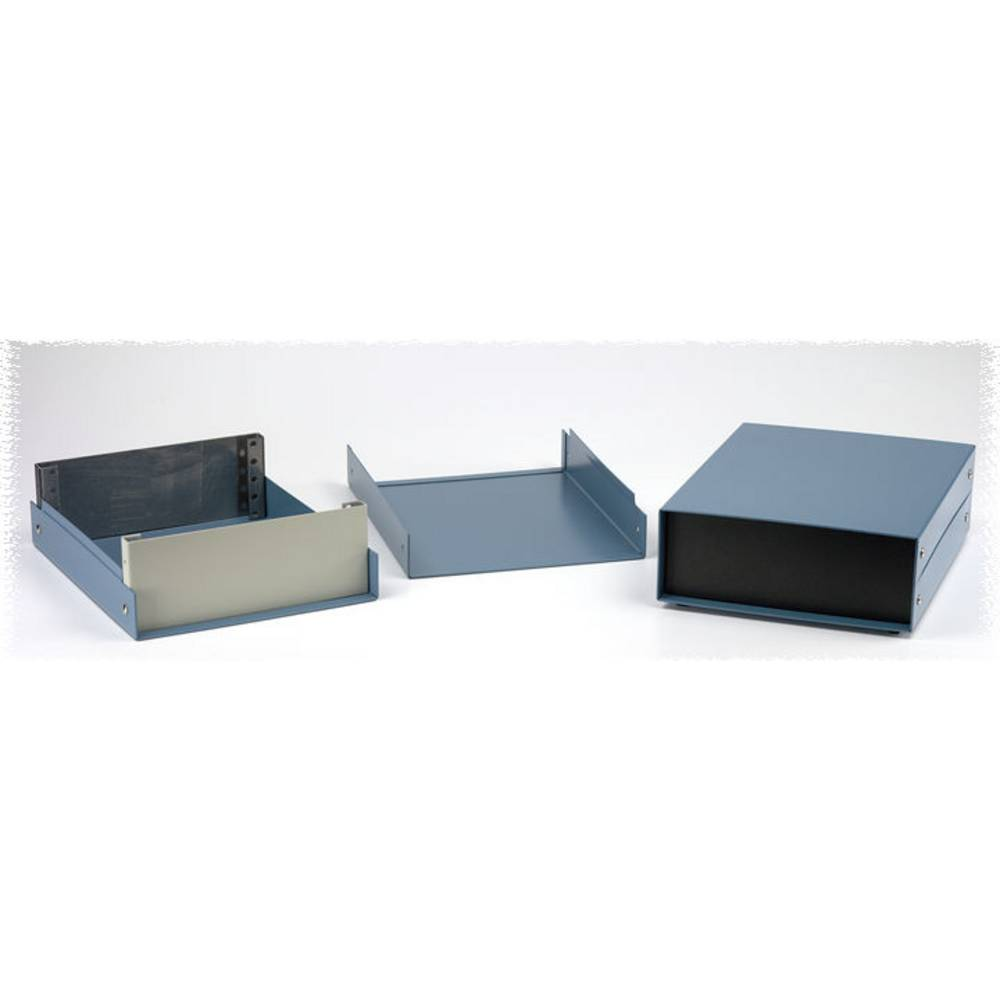 Instrumentkabinet 254 x 203 x 127 Aluminium Sort Hammond Electronics 1458E5 1 stk