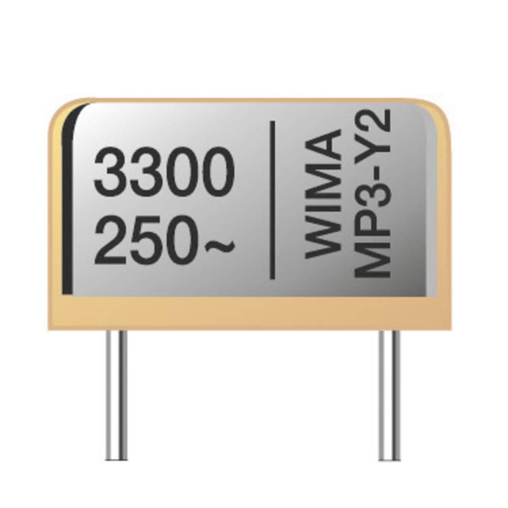 Radijski kondenzator za uklanjanje smetnji MP3-X2 radijalno ožičen 3300 pF 275 V/AC 20 % Wima MPX21W1330FA00MF00 900 kom.