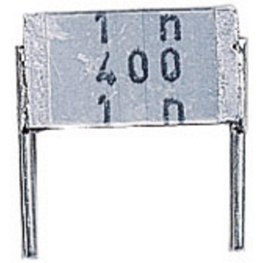 MKT-folijski kondenzator, radijalno ožičen 100 nF 250 V/AC 10 % 7.5 mm (D x Š x V) 9 x 3.2 x 6.1 mm Epcos B32560-J3104-K 1 kos