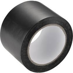 PVC lepilni trak črne barve (D x Š) 12.5 m x 50 mm vsebina: 1 kolut