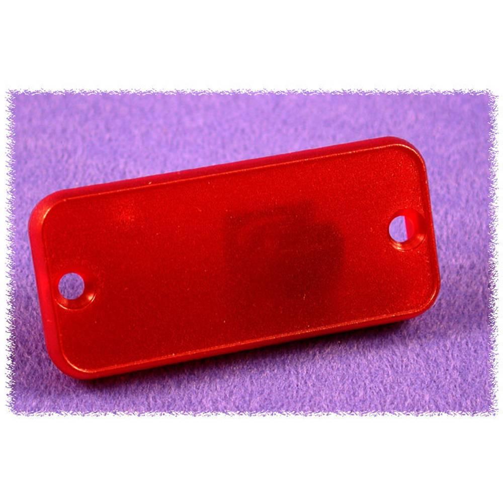 Endeplade Hammond Electronics 1455NPLTRD (L x B x H) 8 x 103 x 53 mm ABS Rød (transparent) 2 stk