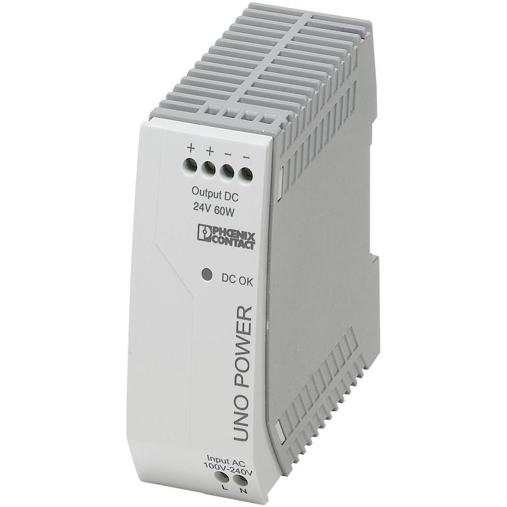 Adapter napajanja za profilne šine (DIN-letva) Phoenix Contact UNO-PS/1AC/24DC/60W 24 V/DC 2.5 A 60 W 1 x