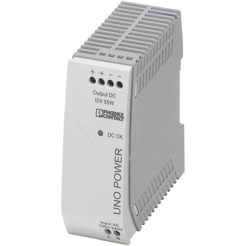 Napajalnik za namestitev na vodila (DIN letev) Phoenix Contact UNO-PS/1AC/12DC/55W 12 V/DC 4.6 A 55 W 1 x