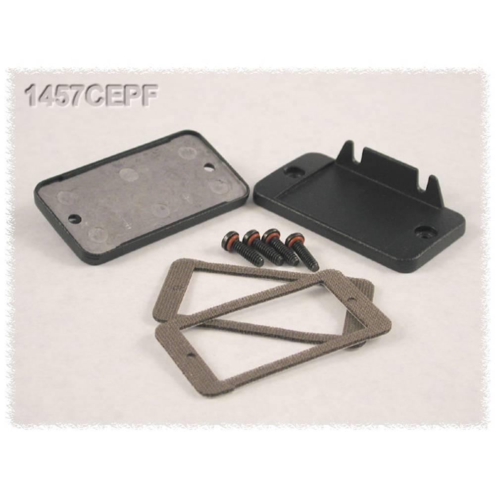 Endeplade Hammond Electronics 1457CEP uden flange (L x B x H) 5 x 59 x 31 mm Aluminium Sort 2 stk