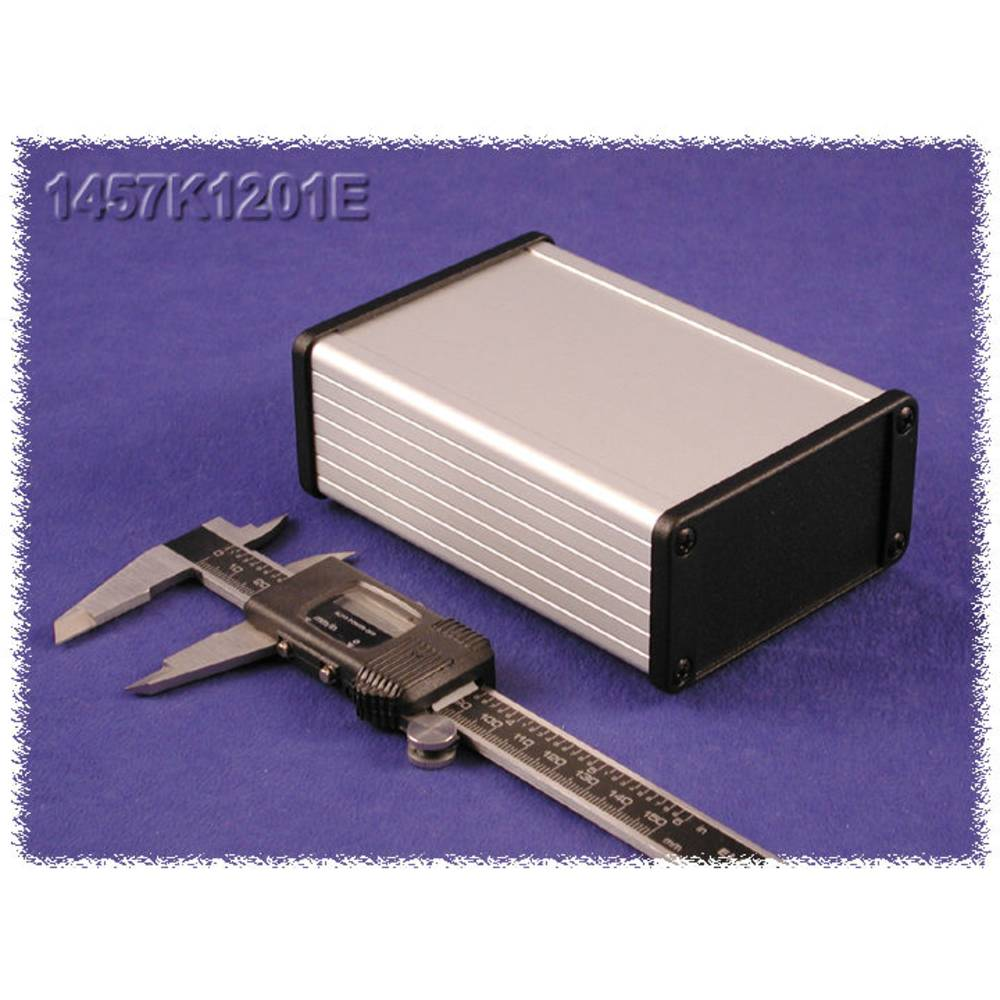 Universalkabinet 160 x 84 x 28.5 Aluminium Sort Hammond Electronics 1457J1601EBK 1 stk