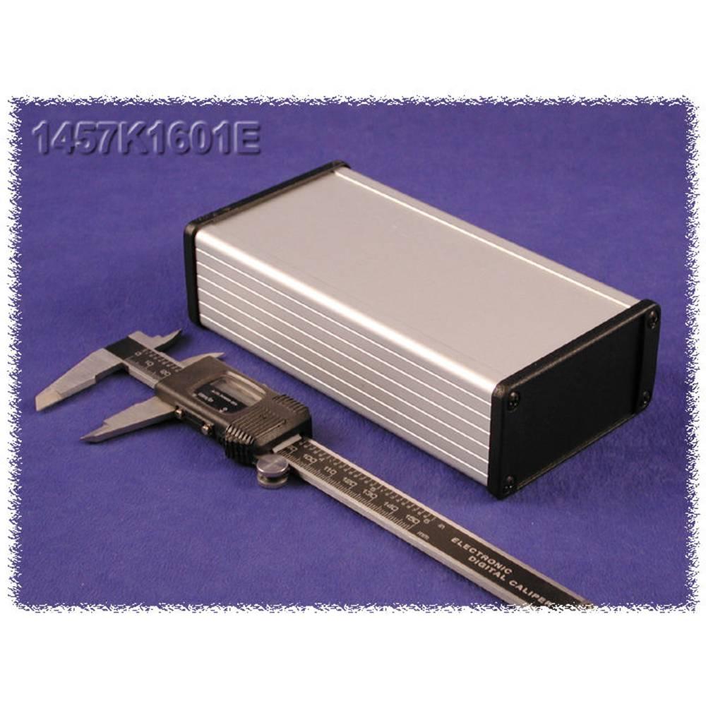 Endeplade Hammond Electronics 1457KEP-10 uden flange (L x B x H) 5 x 84 x 44 mm Aluminium Sort 10 stk