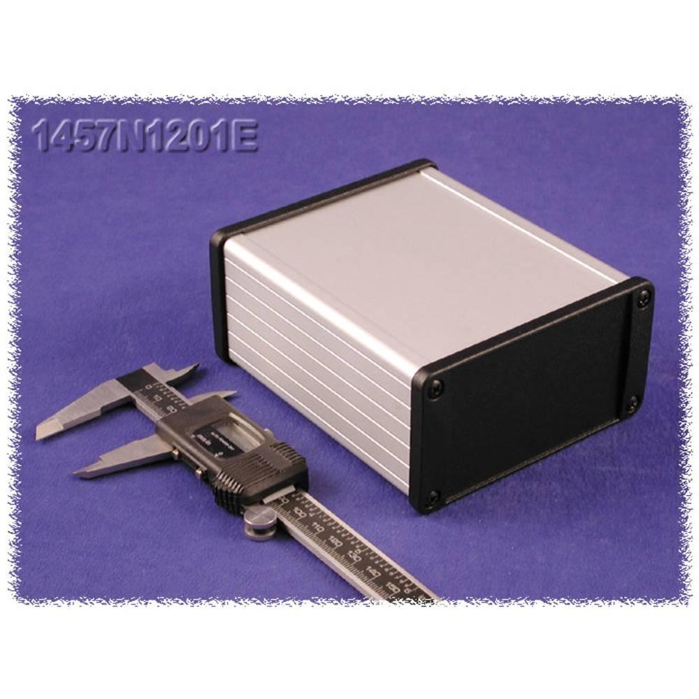 Universalkabinet 120 x 104 x 55 Aluminium Sort Hammond Electronics 1457N1201EBK 1 stk