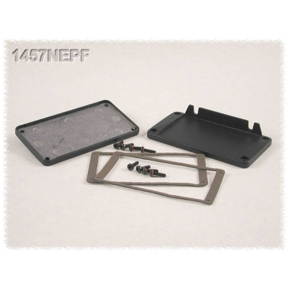 Endeplade Hammond Electronics 1457NEP uden flange (L x B x H) 5 x 104 x 55 mm Aluminium Sort 2 stk