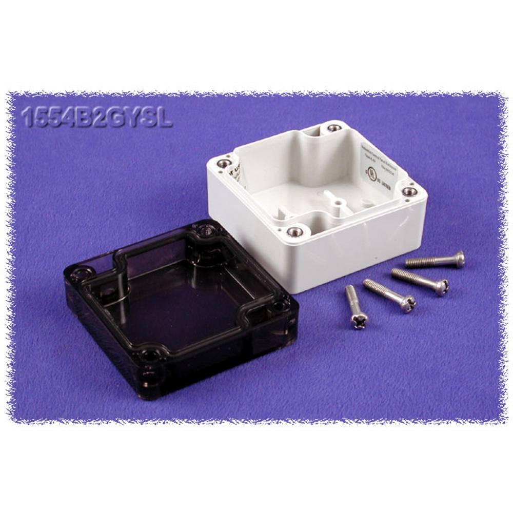 Universalkabinet 65 x 65 x 40 Polycarbonat Grå Hammond Electronics 1554B2GYSL 1 stk