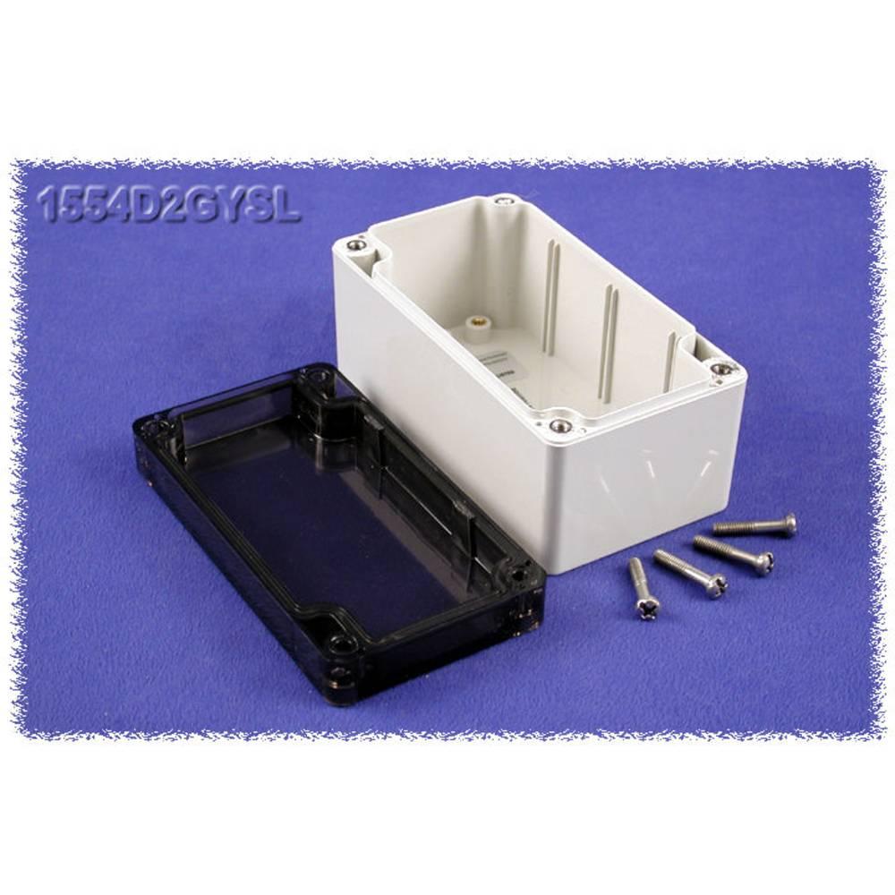 Universalkabinet 120 x 65 x 60 Polycarbonat Grå Hammond Electronics 1554D2GYSL 1 stk