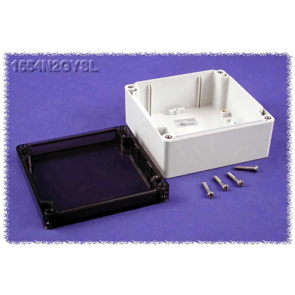 Universalkabinet 120 x 120 x 60 Polycarbonat Grå Hammond Electronics 1554N2GYSL 1 stk