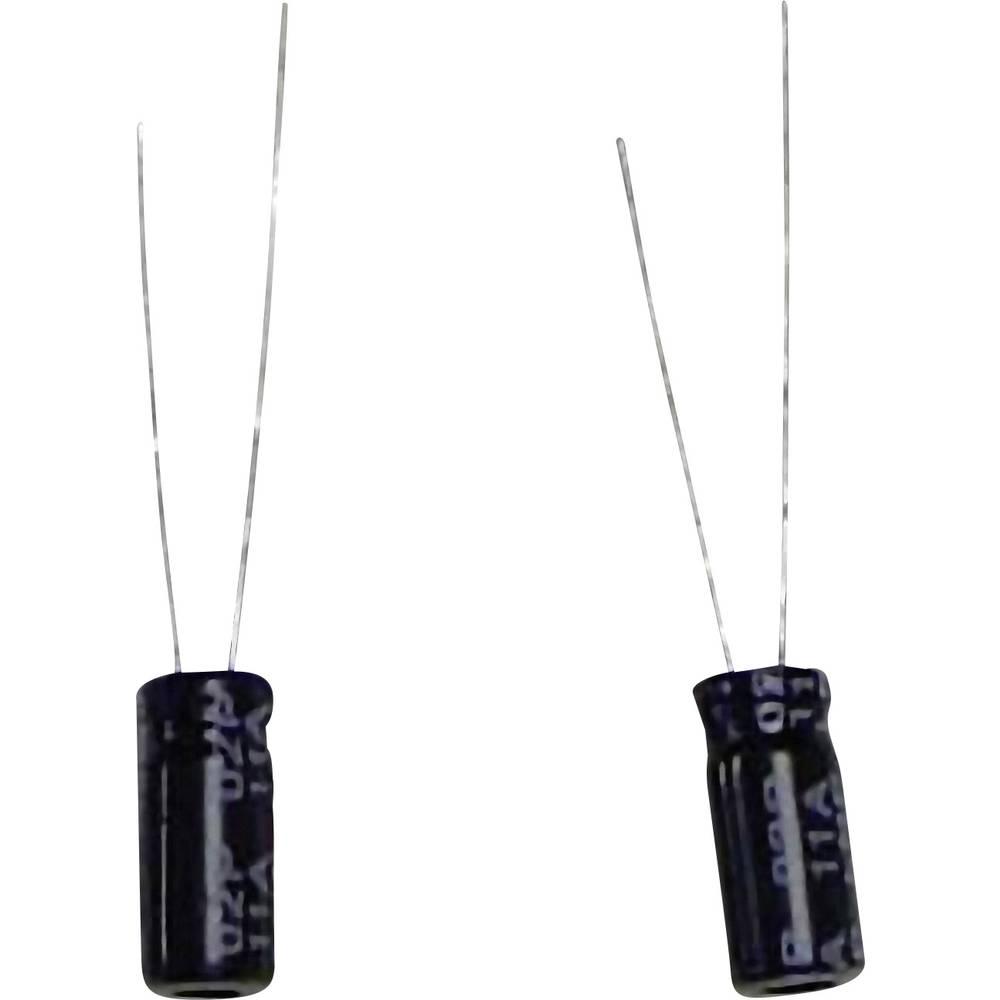 Radijalni elektrol. kondenzator (OxV) 6.3 mm x 11 mm raster 2.5 mm 100F 16/20 V